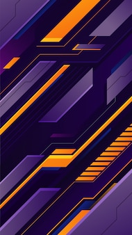 Futuristic gaming background with purple and yellow gradient