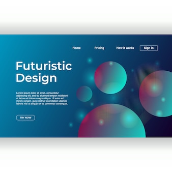 Futuristic geometric abstract background for landing page