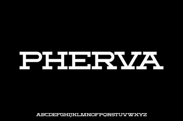 Futuristic geometric alphabet font