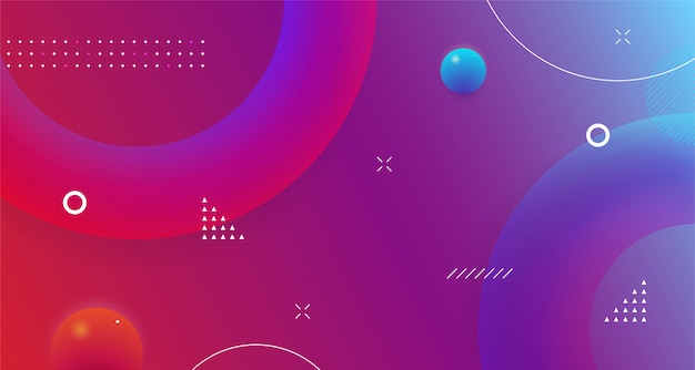 Futuristic geometric shape abstract background design colorful gradient modern dynamic fluid