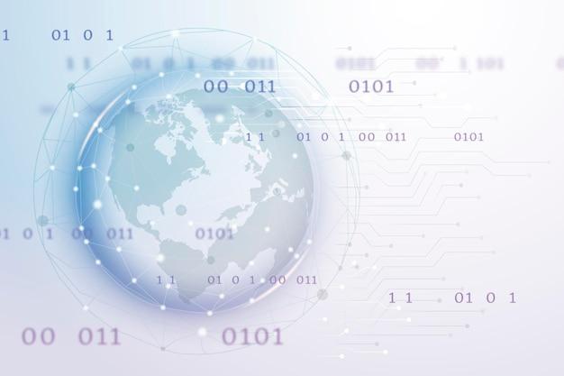 Tecnologia di rete globale futuristica
