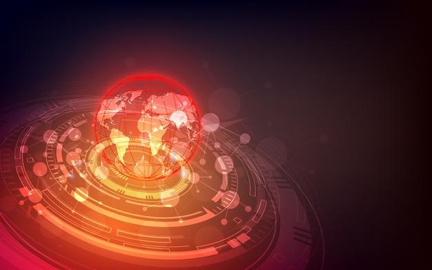 未来的なグローバリゼーションインターフェイス、科学とテクノロジーの感覚の抽象的なグラフィック。