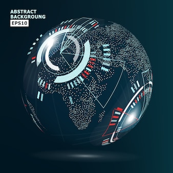 Futuristic globalization interface