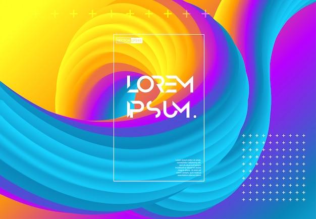 Futuristic gradient geometric background.
