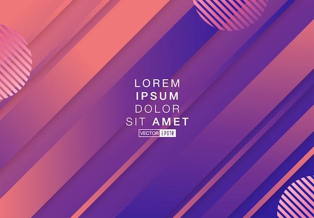 Futuristic gradient geometric background
