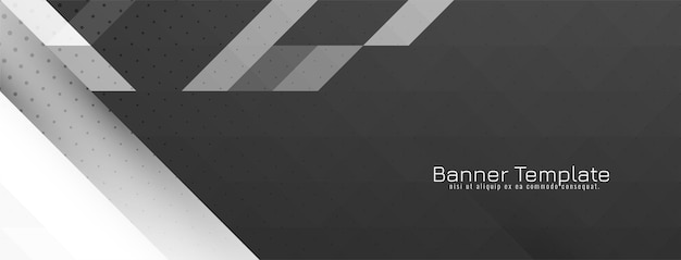 Futuristic gray and white crsytal mosaic geometric banner vector