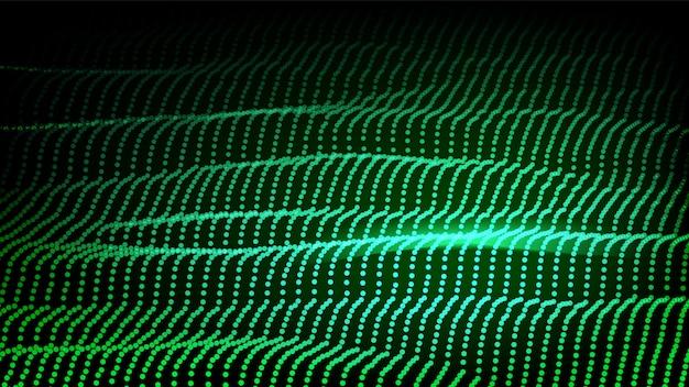 Futuristic green backrgound