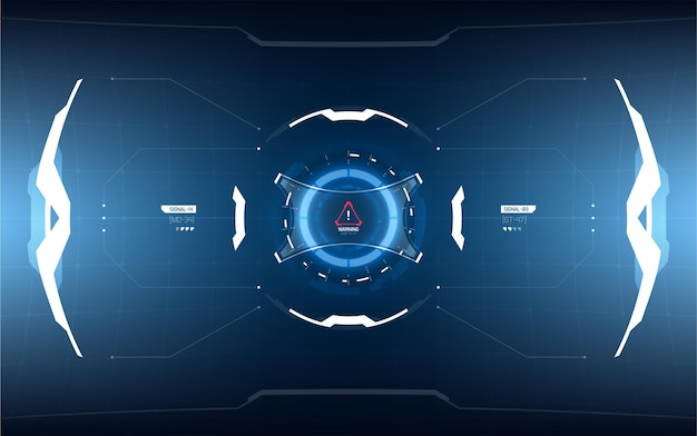 Футуристический дизайн элементов проекционного дисплея.