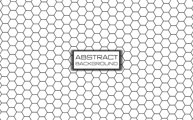 흰색 배경에 선과 삼각형으로 구성된 미래의 육각형 패턴