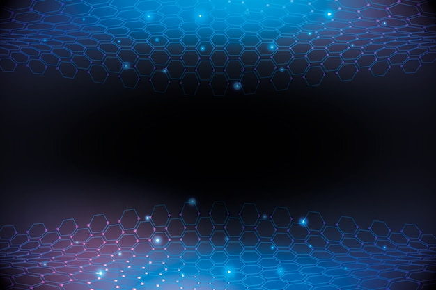 Futuristic hexagonal honeycomb net background
