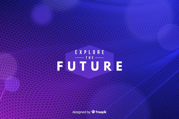 Futuristic hexagonal net background
