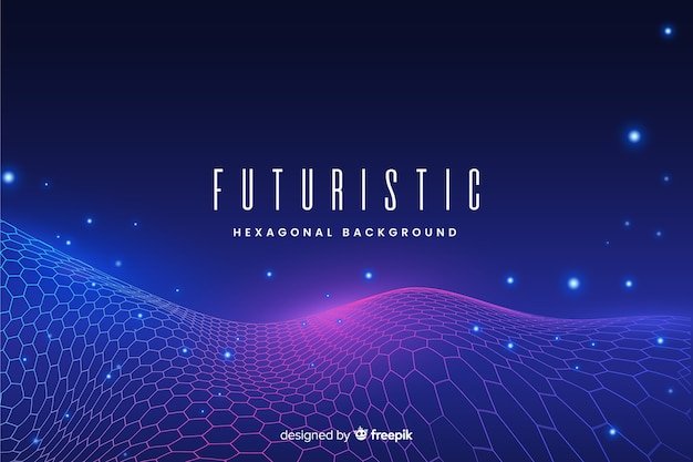 Futuristic hexagonal net background