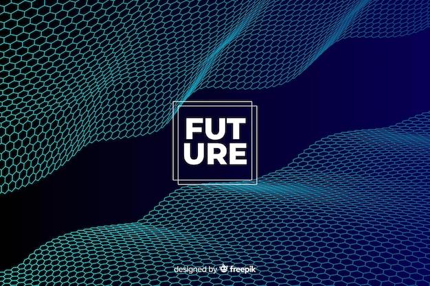 미래 6 각형 그물 배경