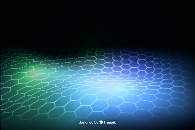 Futuristic hexagonal net wallpaper