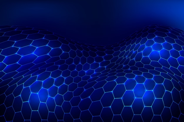Futuristic hexagonal net wallpaper
