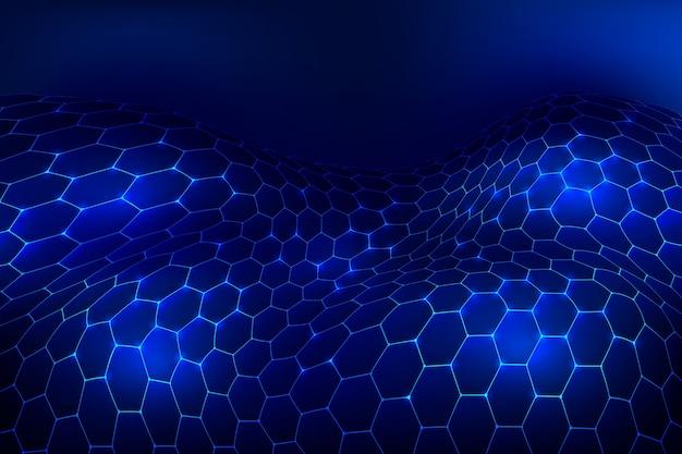 Futuristico sfondo a rete esagonale