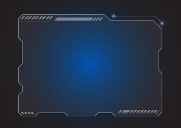 未来的なホログラムモニターの背景