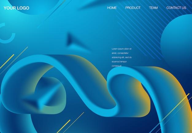 Futuristic horizontal vector gradient