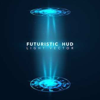 Futuristic hud design