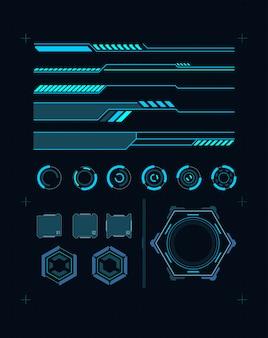 Футуристический интерфейс элемента hud. виртуальный графический сенсорный пользовательский интерфейс