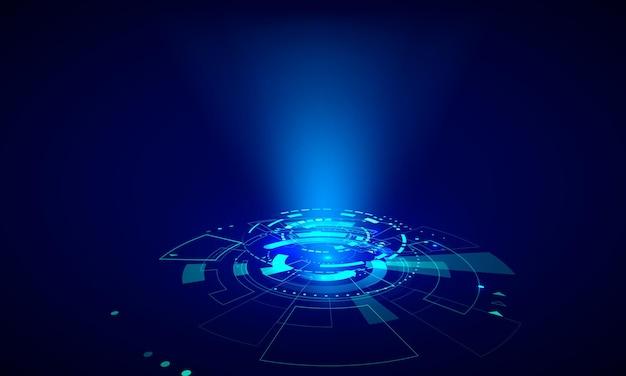 Futuristic hud elements. abstract hi-tech circle. hologram ui elements virtual reality. sci fi futuristic user interface. vector illustration