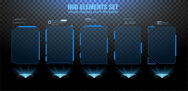 Futuristic  hud interface screen . digital callouts titles. hud ui gui futuristic user interface elements set.