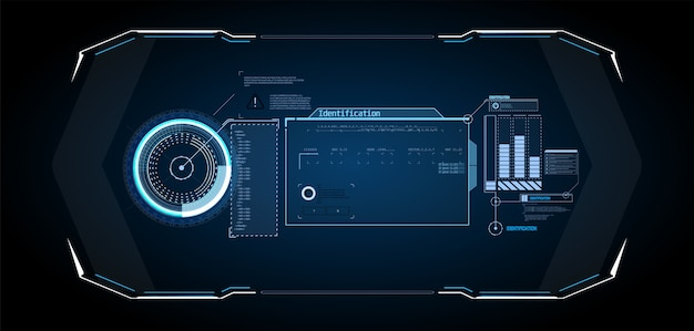 Futuristic  hud interface screen . digital callouts titles. hud ui gui