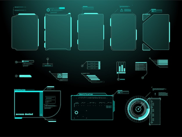 Futuristic  hud interface screen . digital callouts titles.