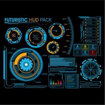 Futuristic hud pack