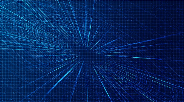 Futuristic hyperspace speed motion background