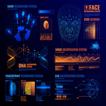 Futuristic identification interfaces background