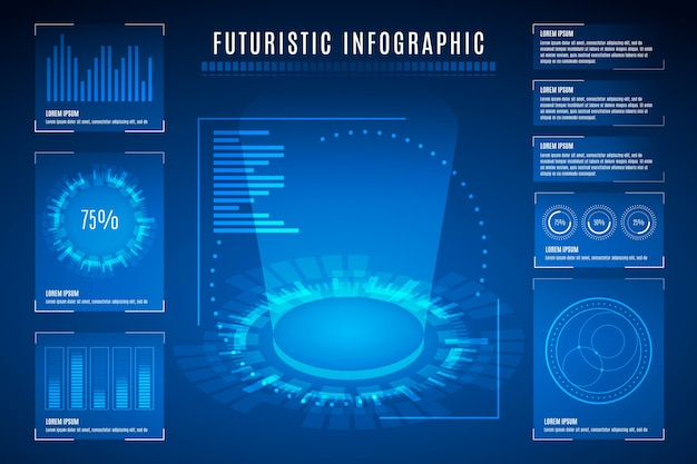 Futuristic infographic collection