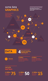 Futuristic infographic. information aesthetic . complex data threads graphic visualization. abstract data graph.