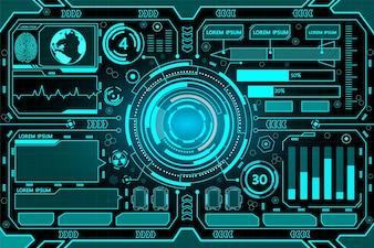 Futuristic interface hud technology background