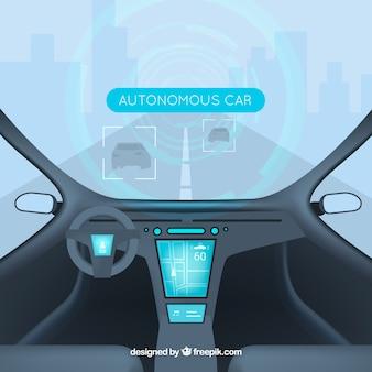 自律車の未来的なインテリアデザイン