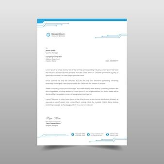 Futuristic letterhead template design illustration
