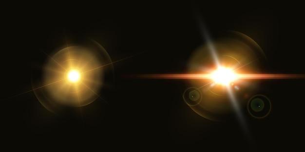 未来的な光の効果、レンズフレア。