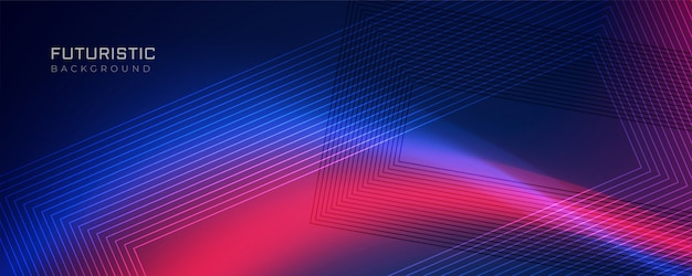 Futuristic line background with light effect