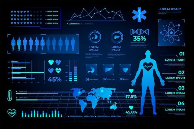 Futuristic medical infographic