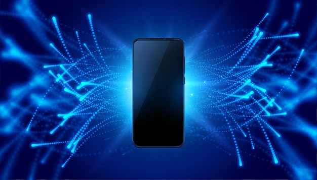Futuristic mobile concept technology style background