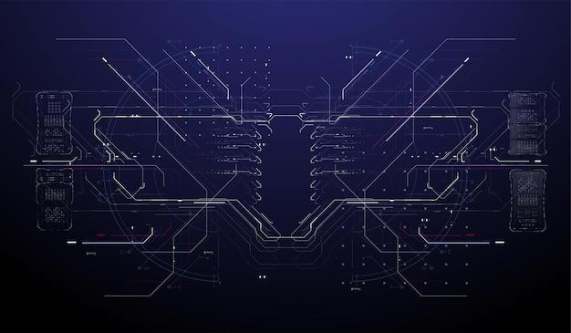 Futuristic modern hud interface screen design