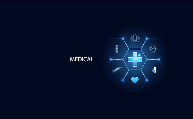 Futuristic modern science positive health for medical