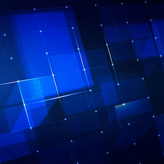 Futuristic networking technology background in blue tone Free Vector