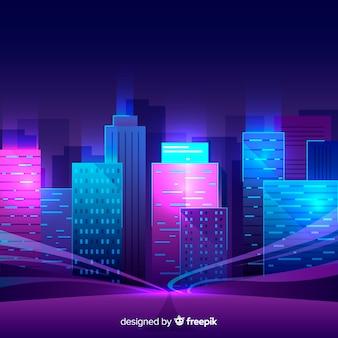 Futuristic night city background