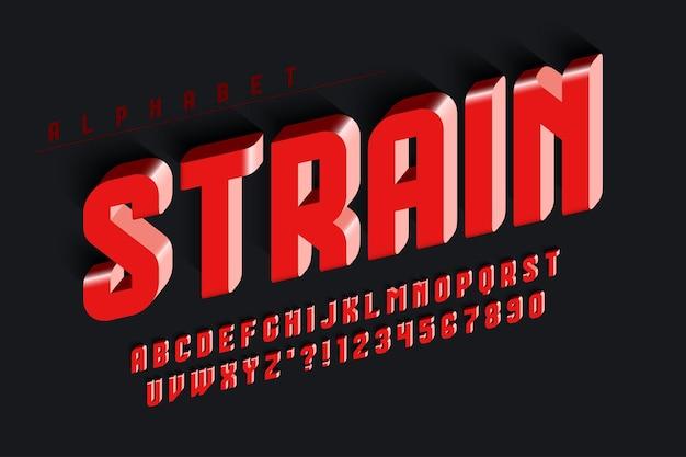 Футуристический оригинальный округлый сжатый алфавит, набор символов и цифр. перекос на 13 градусов.