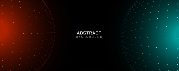 Futuristic particle dots abstract background
