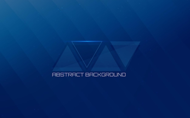 Futuristic pattern of lines and triangle on a blue background