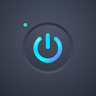 Futuristic power icon button