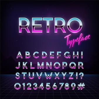 Futuristic retro typeface.