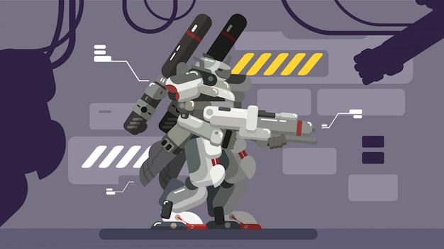Futuristic robot analyse